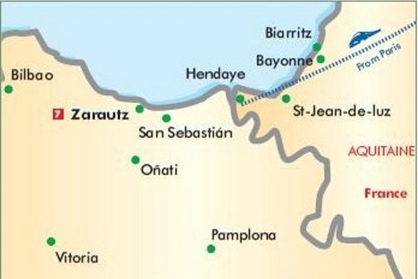 Basque France Map.Basque Country Of France Spain Escorted Tour By Rail 7 Nights