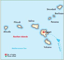 Aeolian Island Map 2013